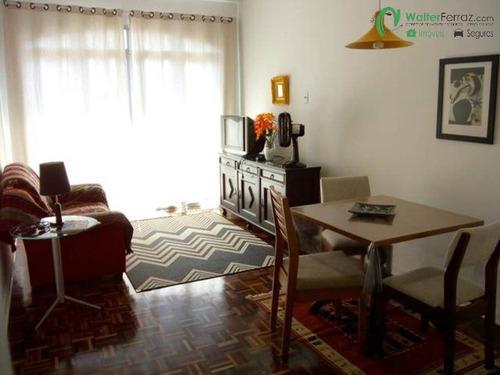 Imagem 1 de 10 de Belíssimo 1 Dormitório Em Prédio Estilo Mediterrâneo No Boqueirão Em Santos - 2718