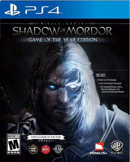 Shadow Of Mordor / Game Of The Year / Juego Físico / Ps4