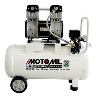 Compressor Ar Silêncioso Odontológico 8 Pés Cmo-8/50 Motomil