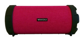 Parlante Vivitar Fabric Collection Bluetooth Tube Speaker portátil inalámbrico Fucsia