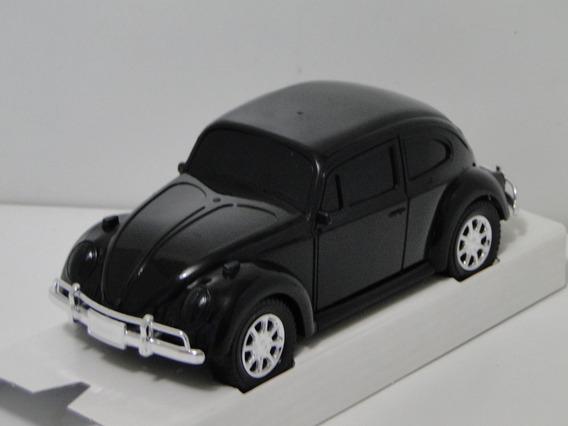 Miniatura Fusca Preto 1966 Carrinho Coleção Volkswage Fuscão