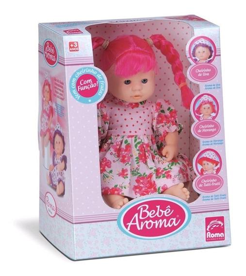 Boneca Bebê Aroma - Morango - Roma Brinquedos