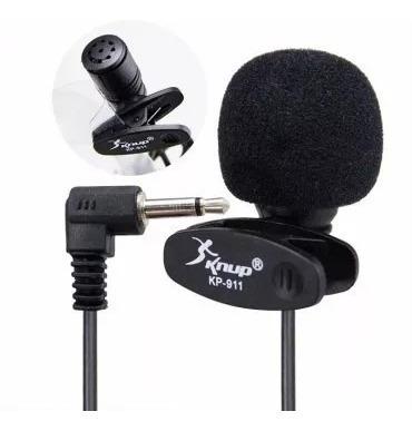 Microfone De Lapela Para Gravação De Video Pc Knup Kp-911