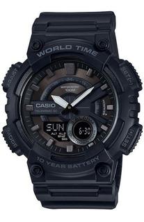 Reloj Hombre Casio Aeq-110w-1bv. Analógico-digital. Nuevo