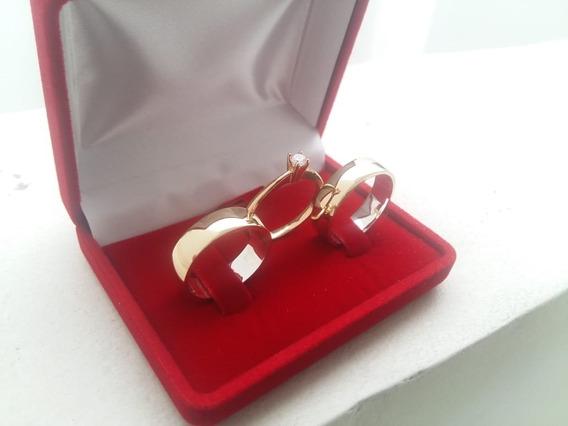 Par De Aliança Casamento Moedas Antigas Cor Ouro 18k + Anel