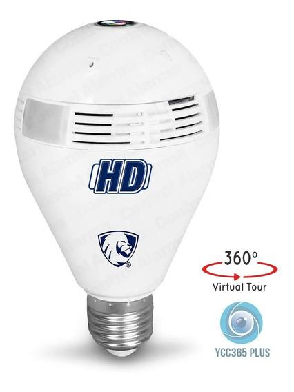 Camara Foco Wifi Espia Hd Ip Nube 360 Grados Video Seguridad