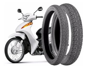 Kit Pneu Moto Biz D 60/100-17+80/100-14 T C/camara Technic