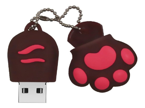 Pendrive 32 Gb Patinha Marron Rosa