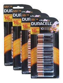 Kit 64 Pilhas Duracell(32 Aa + 32 Aaa Alcalina)