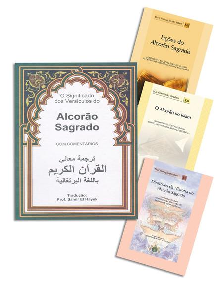Alcorão Sagrado (em Português) + 3 Livros De Interpretação