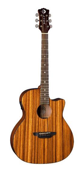 Guitarra Electroacustica Luna Gypsy Exotic Zebrawood A / E