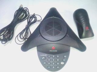 Telefone De Conferência Sem Display(polycom, Soudstation 2)