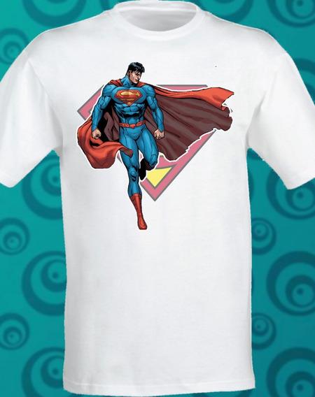 Playera Superman Classic Sublimada Dc Comic 084