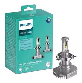 Par Lâmpada Philips Ultinon Led H4 6200k Super Branca 12v