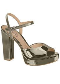 Sandália Salto Quadrado De 10cm.moda Anitta Feminina Oferta