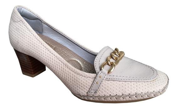 Sapato Scarpin Usaflex 72971 Mocassim Salto Quadrado