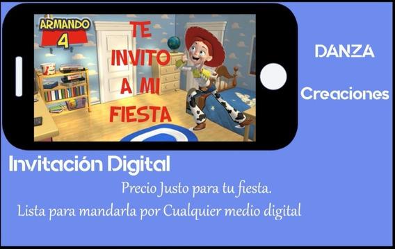 Invitación Digital Económica Toy Story