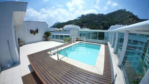 Cobertura Duplex Com 4 Quartos, 263 M² Por R$ 2.550.000 - Charitas - Niterói/rj - Co0010