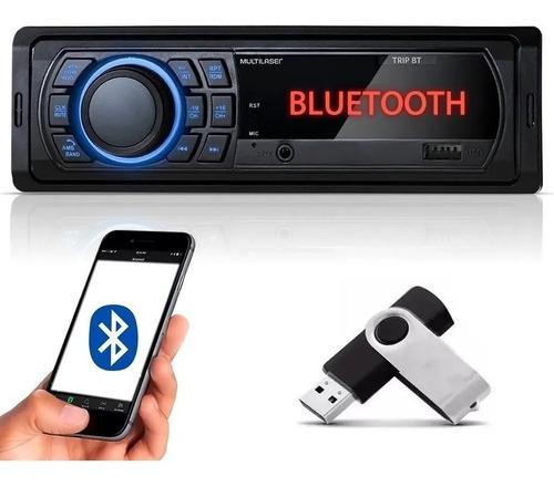 Imagem 1 de 4 de Som Automotivo Multilaser Trip P3350 Usb / Bluetooth+ Brinde