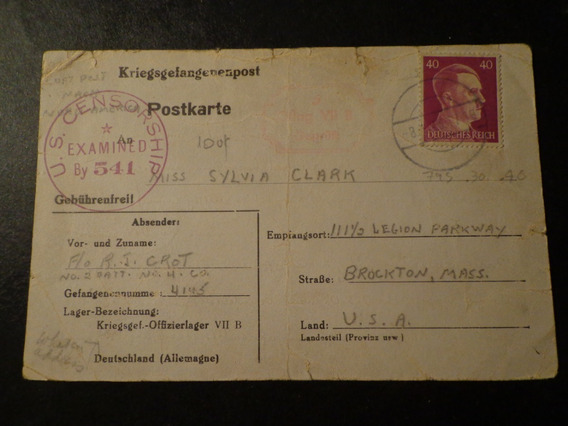 Alemania-1917-hasta Boston/usa- Censura Americana