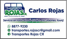 Transportes Rojas Cr Viajes Paseos Excursiones Turismo