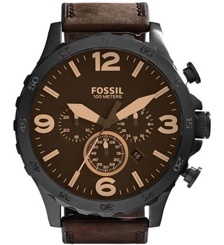Relógio Fossil Masculino Nate Chronograph Nota Jr1487/0mn