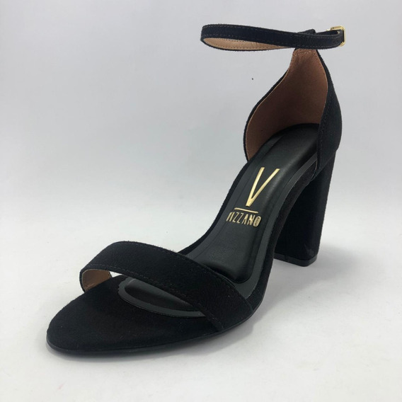 Sandalia Negra Gamuzada - Vizzano