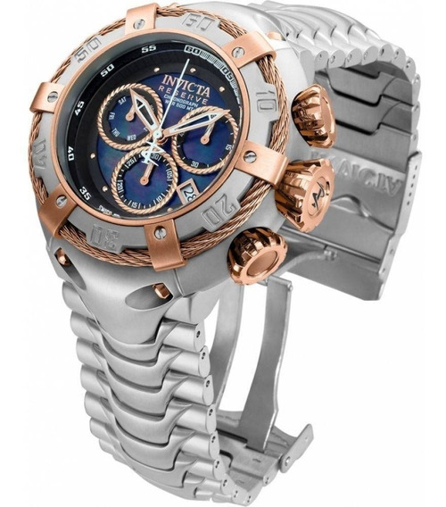 Relógio Invicta Bolt 21342 -ouro Rosê 18k Prata 100 Mts