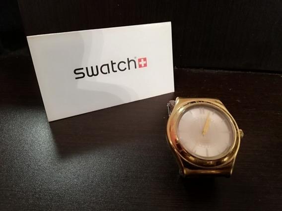 Reloj Dorado Swatch Para Dama Solo Para Refacciones No Camin