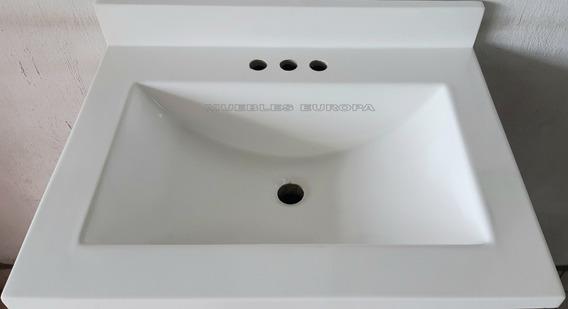 Lavabo Lavamanos Para Baño Moderno Blanco O Hueso Ovalin