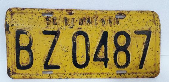 Placa Amarela Antiga Carro Blumenau Sc Coleção