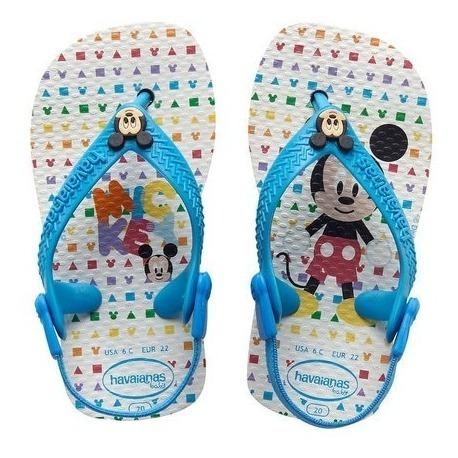 Chinelo Havaianas Baby Mickey Branco Turques 25/26 - Disney