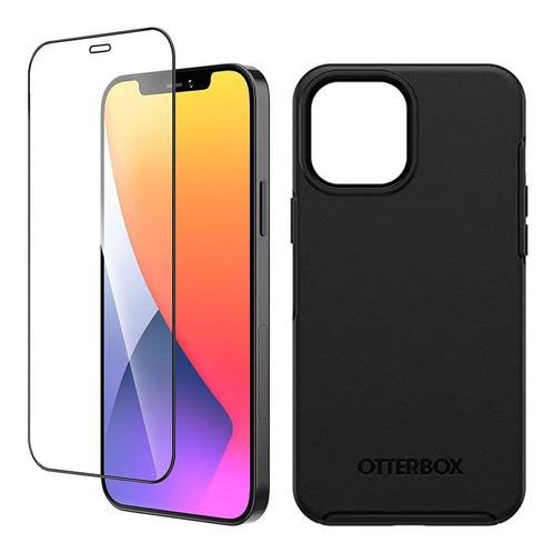 Otterbox Carcasa Symmetry + Vidrio iPhone 12 Pro Max Negro