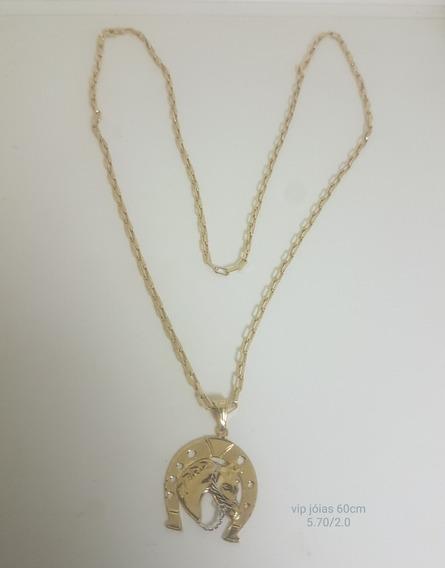 Corrente Cartier Em Ouro 18k 60cm Com Pingente