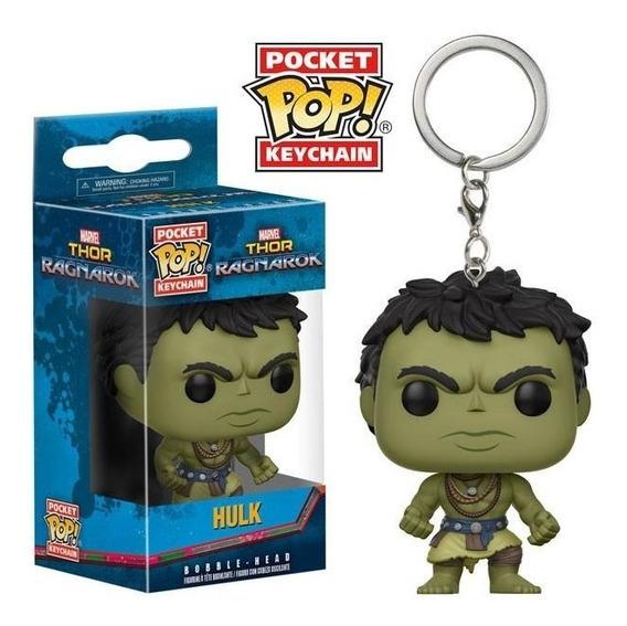 Funko Pop Hulk Thor Ragnarok Llavero Marvel Comics