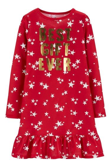 Pijama Navidad Nena Carters Talle 6 Remeron Dormir Nena
