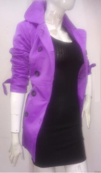 Gabardina Color Violeta De Dama 01