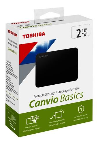 Disco Duro Externo Toshiba 2tb Canvio Basic Usb 3.0 Original