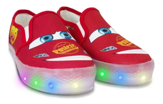 Tenis Luminoso Led Niño Car Turbo, Envío Gratis Inmediato!