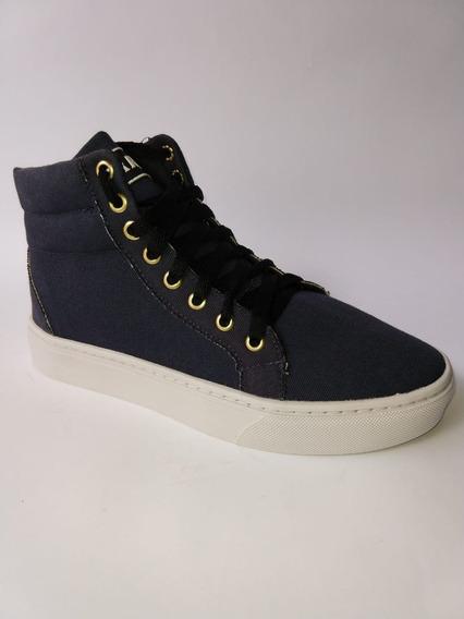 Tênis Bota Feminina Harue Lona/jeans Envio Imediato