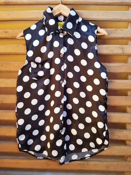 Camisa A Lunares Mujer Verano Diseño