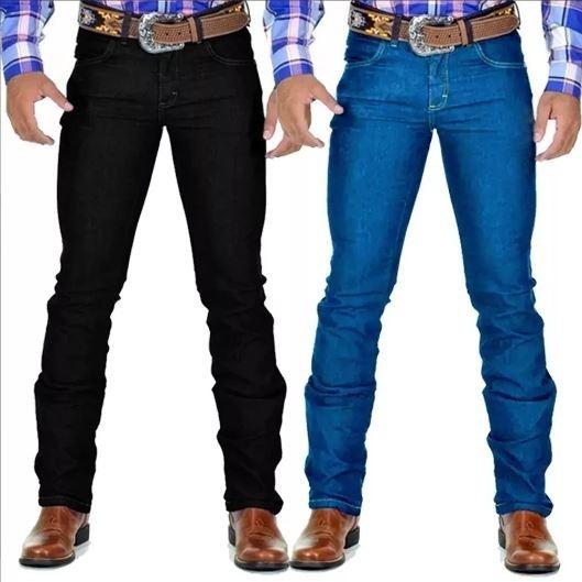 Kit 3 Calça Jeans Masculina Lycra Country Avant
