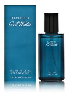 Perfume Cool Water Men Davidoff Edt X 40ml Original Importado En 6 Cuotas