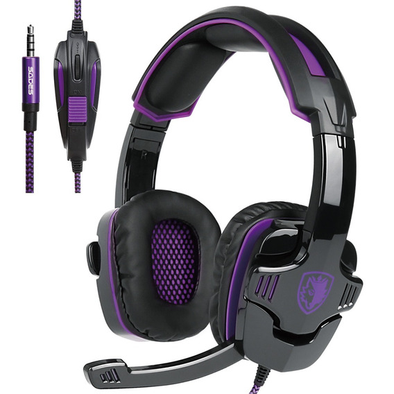 Sades Sa-930 3.5mm Gaming Headsets Com Ruído Mic