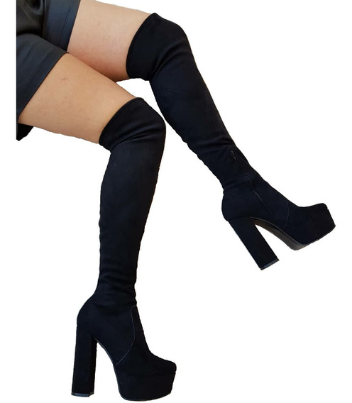 Bucanera Elastizada Bota Caña Alta Mujer Plataforma Zapato