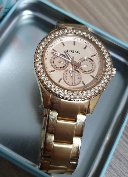 Relógio Fossil Feminino Com Brilhantes