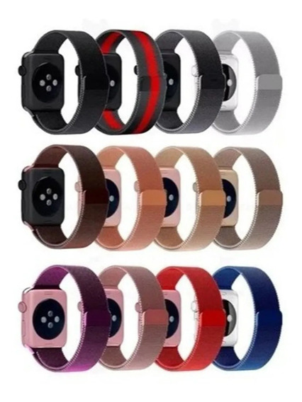 Pulseira Loop Milanese Para Apple Watch 38 40 42 44mm Iwatch