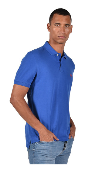 Polo Stretch Fit Chaps Azul 750684781-215b Hombre