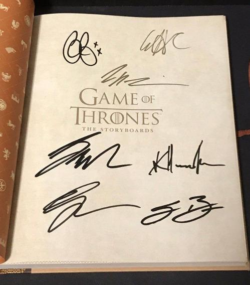 Livro Game Of Thrones Autógrafo 6 Atores George R.r. Martin