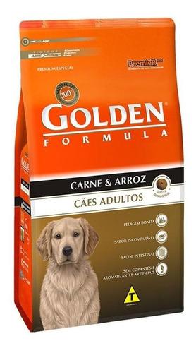 Ração Golden Premium Especial Formula para cachorro adulto todos os tamanhos sabor carne/arroz em saco de 15kg